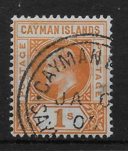 CAYMAN ISLANDS SG7 1902 1/= ORANGE FINE USED