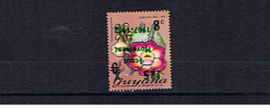 GUYANA SCOUTS INVERTED OVERPRINT