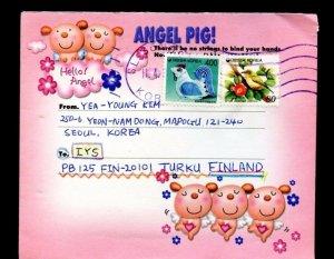 KOREA >>> FINLAND FANCY cover 1975 Angel Pig