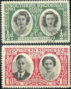 Southern Rhodesia #65-66 Royal Visit Used