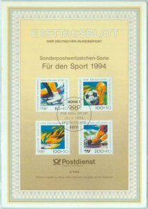 84821 - GERMANY - Postal History - FDC CARD 1994 OLYMPIC GAMES  Football SKATING