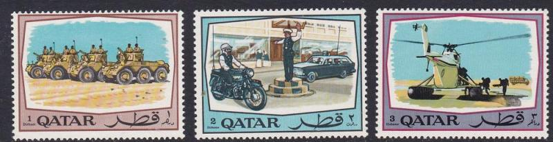 Qatar MNH 172-4 Public Security Forces 1969