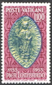 Vatican City SC#173 100£ Episcopal Seal of Peter Lombard (1953) MNH