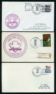 US USS FLINT (AE-32) LOT OF 3  DIFFERENT COVERS 1971-1994 AS SHOWN (13)