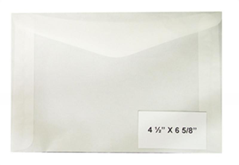 100 count - Glassine Envelopes #8 - ACID FREE - size 4 1/2 x 6 5/8 - NEW