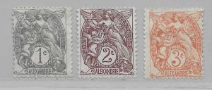 France Offices in Egypt - Alexandria 16-18 Liberty part set MH