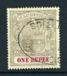 Mauritius 1904 KEVII 1R wmk MCCA SG 175 used