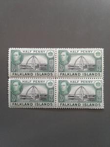Falkland Islands 84 VF MNH.Block of 4  Scott $ 1.00 for hinged.