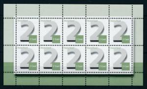 [98237] West Germany Bundespost 2013 2 Cent Sheet MNH