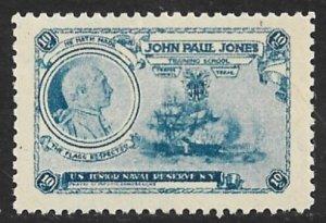 USA c1900 10c John Paul Jones Training School Charity Label MNH