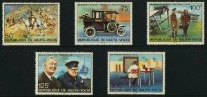 Upper Volta 346-51 MNH Winston Churchill, Horse, Warship, Aircraft, Car