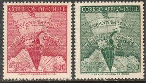 CHILE 305-C214, INTERNATIONAL GEOPHYSICAL YEAR. MNH VF. (316)