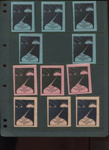 VINTAGE LOT OF 11 1931 MAGIC Poster Stamps SOCIETY OF AMERICAN (L1118)