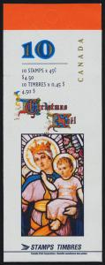 Canada 1669a Booklet BK202b MNH Christmas, Art, stained glass