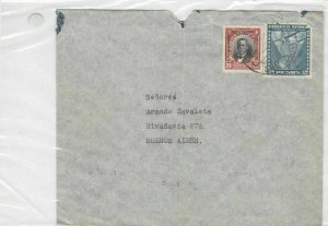 chile to buenos aires 1936 air mail stamps cover  Ref 8527