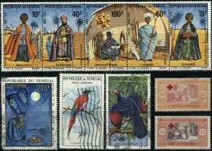 SENEGAL Postage AFRICA  Stamp Collection Used Mint LH