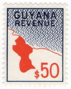(I.B) British Guiana (Guyana) Revenue : Duty Stamp $50