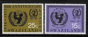 Swaziland 1972 25th anniversary of UNICEF MNH