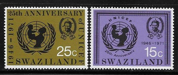 Swaziland 1972 25th anniversary of UNICEF MNH