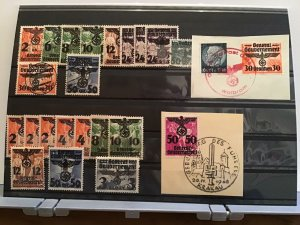German Occupation of Poland  stamps and scarce cancels  R25077