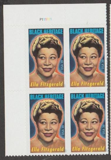 U.S. Scott #4120 Black Heritage - Ella Fitzgerald Stamps - Mint NH Plate Block