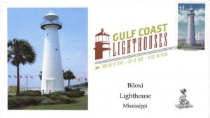 Gulf Lighthouses FDC, from Toad Hall Covers!   (#1 of 5)