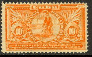 CUBA 1902 10c INMEDIATA Special Delivery BICYCLE Issue Sc E3 MH