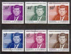 Congo DR Kennedy 514-519 issue CTO VF NH