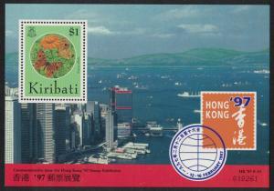 Kiribati Butterfly Flower 'HONG KONG '97' International Stamp Exhibition MS
