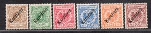 **German Col Caroline Is, SC# 1a-6a MH VF Compl Set, 3a RG, 4a MNH CV $4065.00