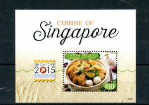 Union Island Grenadines St Vincent 2015 MNH Cuisine of Singapore 2015 1v S/S