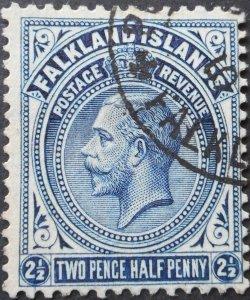 Falkland Islands 1928 GV 2½d SG 76b used