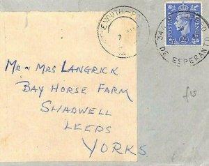 GB Cover SPECIAL EVENT Bournemouth *Congreso Esperanto*Skeleton Hants 1949 GP219