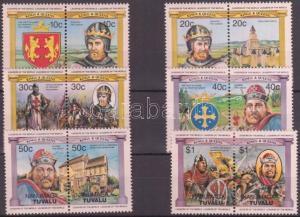 Tuvalu-Nanumaga stamp English monarchs 6 pairs MNH 1984 Mi 13-24 WS143041