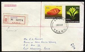 PAPUA NEW GUINEA 1969 Registered cover ex SAIDOR...........................18159