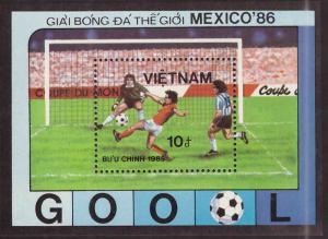 Viet Nam Scott 1583  Unused NGAI Soccer souvenir sheet