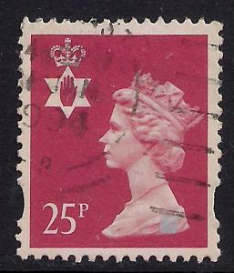 Northern Ireland GB 1993 - 2000 QE2 25p Red 2 Bands SG NI 72 ( J457 )