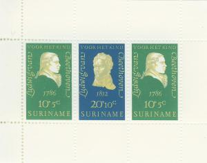 SURINAM/SURINAME 1970 MNH SC.B167/B169 Beethoven