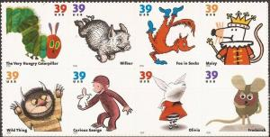 US Stamp - 2006 Children's Book Animals - 8 Stamp Block #3987-94