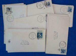 75 Railroad Post Office (RPO) Covers Fm 1960's (S17327)