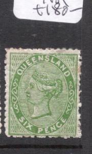 Queensland SG 143 Tone Spot At Right MOG (7djy)