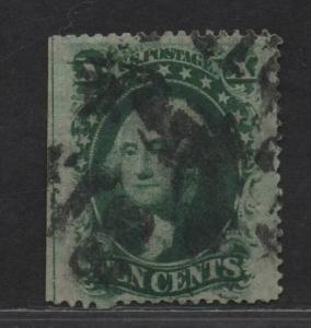 $US Sc#35 used, XF JUMBO margin copy, Cv. $55