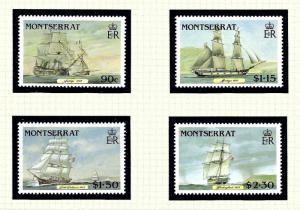Montserrat 618-21 MNH 1986 Clipper Ships