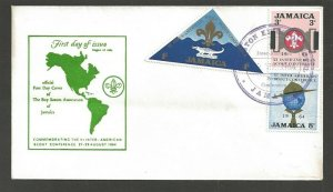 1964 Jamaica Scouts FDC VI Inter-American Conf Sheraton Kingston cancel