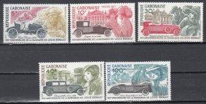 Gabon, Sc 388-392, MNH, 1977, Renault