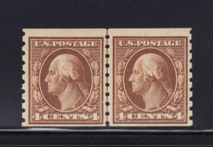 395 Line Pair F-VF+ OG mint never hinged with nice color cv $ 975 ! see pic !