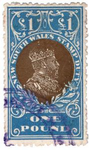 (I.B) Australia - NSW Revenue : Stamp Duty £1 (inverted watermark)
