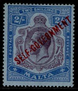 MALTA GV SG120, 2s purple & blue/blue, M MINT. Cat £50.