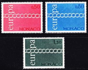 Monaco Scott 797-799  complete set  VF mint OG NH.