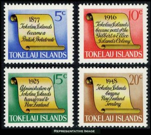 Tokelau Scott 16-19 Mint never hinged.